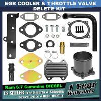 08-17 EGR Valve Aluminum Block Off Plate Delete 6.7L Cummins Turbo Diesel Black