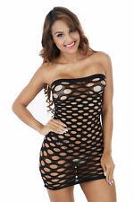Sexy Black Mesh Fishnet Dress Bodystocking Stocking Bodysuit Nightwear Lingerie
