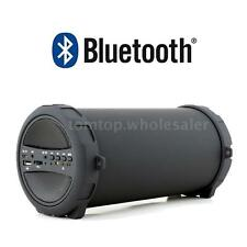 Bluetooth Portable Speaker Wireless Bass Stereo Black for PC Tablet Rechargeable