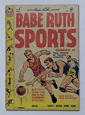 Babe Ruth Sports #1 (Apr 1949, Harvey) VG+ 4.5 Bob Powell art