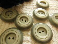 Bottone bottoni 1 Pezzi Marrone Bottoni Bianco 44 mm grande #277#