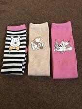 ladies Primark Disney Winnie The Pooh Socks 3 pack style 4-8uk /eur 37-42 sizes