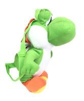 "Nintendo Super Mario Bros 16"" Yoshi Plush Backpack Coin Pouch Bioworld NEW"