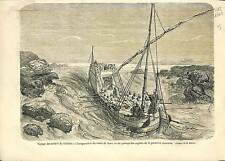 Inauguration Canal Isthmus Suez Egypt Port Said ANTIQUE PRINT 1869