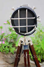 Antique Studio Floor Lamp E27 Marine Search Spot Light With Adjustable Tripod.