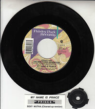 "PRINCE  My Name Is Prince  7"" vinyl 45 rpm record + juke box title strip RARE!"