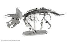 Metal Earth 3D Laser Cut Steel Model Kit Dinosaur Triceratops Skeleton DIY Gift