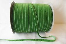5m x 10mm Velvet Ribbon : 31 Emerald