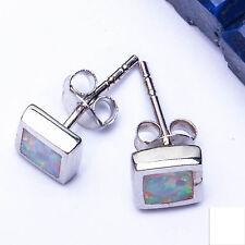 """White Australian Opal .925 Solid Sterling Silver Earrings .5"""" TOP SELLER"""
