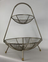 Vintage Mid Century Modern Retro 1950s Atomic Harry Bertoia Era Fruit Basket