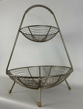 Vintage Mid Century Modern Retro 1950s Atomic Harry Bertoia Era Fruit Basket