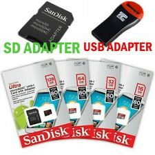 SanDisk Ultra 32GB 64GB 128GB 256GB microSDXC micro SD SDXC card for Samsung lot