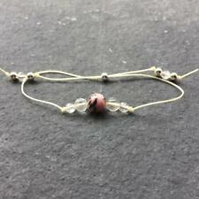 Crystal Healing Bracelet Rhodonite Citrine Sterling Silver - Confidence