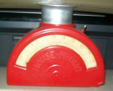 vintage red house proud kitchen scale