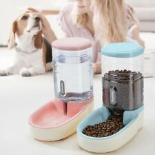 Pet Automatic Feeder Non-toxic Materials Leakproof Cat Water Food Bowl^,