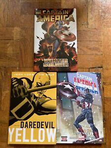 Marvel Comics Hardcover HC Lot Of 3 Daredevil Yellow Captain America Winter