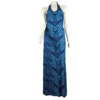Tommy Bahama Halter Maxi Dress Womens XS Navy Blue Benbow Sun Summer Long NWT