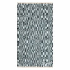 Fair Trade Diamond Recycle PET Yarn Blue Silver Grey Green Modern Soft Rug 2Size