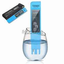 Blue Water Quality Test Meter Digital Tool TDS&EC Temperature 0-9990 ppm MO