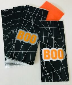 20 X HALLOWEEN SPOOKY BOO CELLOPHANE Sweet Gift LOOT Bags TRICK OR TREAT