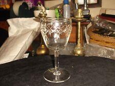 "VINTAGE ELEGANT SMALL APERITIF LIQUEUR WINE GLASS CUT CRYSTAL 4.25"" HIGH"