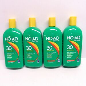 4 Pack No-Ad Sun Care SPF 30 Lot 16 Fl.Oz. Value Size Expiration 04/21 & 11/20
