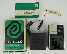 VINTAGE WORKING JULIETTE APR-256 TRANSISTOR RADIO W/ BOX & PAPERWORK COMPLETE