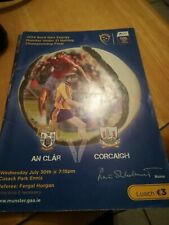 Gaa Programme Clare v Cork  Munster U21 Hurling Final 2014