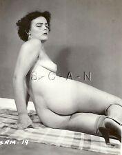Vintage Original 1940s-60s Chair Rp- Doué Femme- Foncé Cheveux- Butt- Suntan