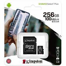 Kingston® 256GB CANVAS Select™ Plus microSDXC UHS-I Class 10 A1 100MB/s SD Card