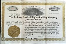 LADESSA GOLD MINING & MILLING COMPANY Stock 1900. Cripple Creek-Victor, Colorado