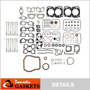 Fits 04-09 Subaru Impreza Legacy Baja Saab 2.5L SOHC Full Gasket Set Bolts EJ25