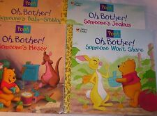Golden Books Winnie Pooh Series 1997 Soft Cover Oh Bother Messy Share BabySit