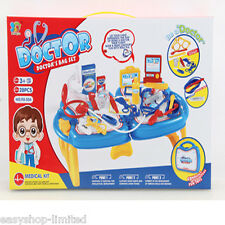 KIDS CHILDRENS ROLE PLAY DOCTOR NURSES MEDICAL SET KIT GIFT HARD CARRY CASE 28PC