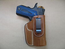 """Rock Island GI MS 1911 4.25"""" IWB Leather In Waistband Conceal Carry Holster TAN"""