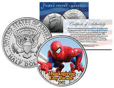 SPIDER-MAN 2002 BALLOON NYC Thanksgiving Day Parade Genuine JFK U.S. Half Dollar