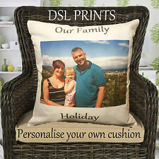 Personalised Cushion Pillow Case Cover Family Your Image Photo Custom Gift Decor