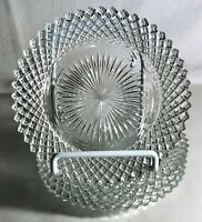 "4 Hocking Crystal Miss America 5 3/4"" Sherbet Plates"