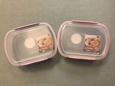 Sistema BakeIt 2.9 Cups Lilac & Pink Rectangular Bakery Storage Container