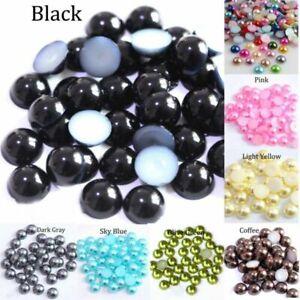 Acrylic Beads Pearl Imitation Half Round Flatback for DIY Crafts Jewelry Making