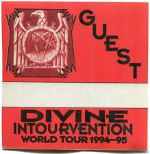 Slayer 1994 Divine Intervention Tour Backstage Pass! concert stage #1
