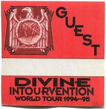 Slayer 1994 Divine Intervention Tour Backstage Pass! Authentic Original #1