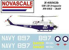 RAN UH-1B Huey Mini-Set Decals 1/48 Scale N48063b