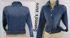 NWT bebe Thally Grommet Denim Jacket SIZE M Cool and classic!! $171