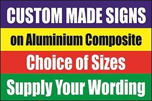 CUSTOM MADE SIGN Aluminium Metal Dibond - No Parking Advertising Warning Signs