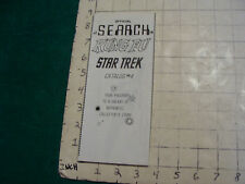 vintage paper: official SEARCH KUNG FU STAR TREK catalog #4; 1973