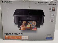 Open Box Canon PIXMA MG3522 All-in-One Wireless Inkjet Printer