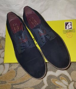 Ted Baker London Men's KLOUDE Dk Blue Suede Oxfords NeW US13 (benefits charity)