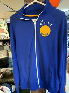 Golden State Warriors Mitchell & Ness Hardwood Classic Track Jacket Size L  NEW!