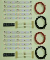 S544 - 10 Stück LED Waggonbeleuchtung 100mm weiß analog + digital Bausatz